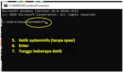 cara cek spesifikasi laptop di cmd - step 2