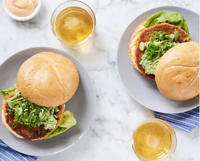 Cauliflower Sweet Potato Burgers with Avocado and Sriracha Aioli (Vegetarian Paleo) #vegan #recipe