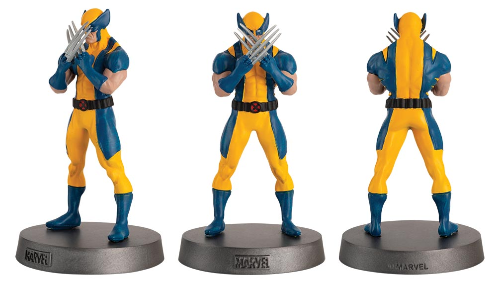 wolverine marvel comics heavyweights figurines, colección mavel comics pesos pesados, eaglemoss collections, hero collector, wolverine figurine