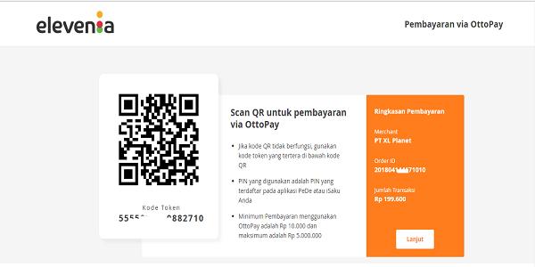 cara melakukan pembayaran dengan aplikasi pede di situs elevenia