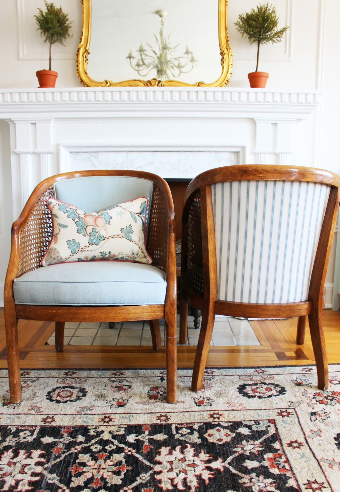 How To Replace Cane Back Chair With Fabric Adirondack Rocking Chairs Outdoor Tiffany Leigh Interior Design Makeover