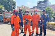 Seekor Monyet Liar di Jembatan Besi Berhasil Dievakuasi Oleh Sudin Gulkarmat Jak-Bar