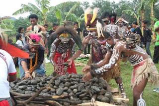 Tradisi papua bakar batu