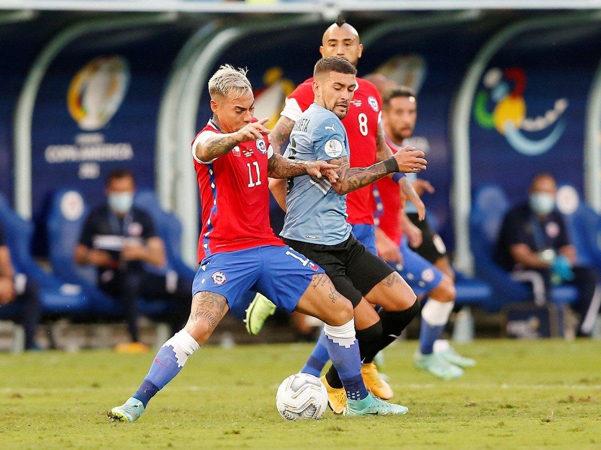 Uruguay y Chile empataron 1 a 1 en Cuiabá