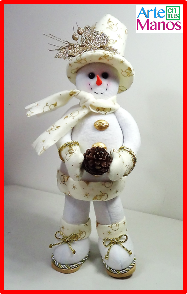 Arte en Tus Manos con Lili y Sam: Muñeco de Nieve con Sombrero de ...