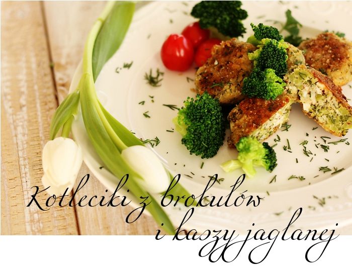 Kotleciki z brokułów i kaszy jaglanej