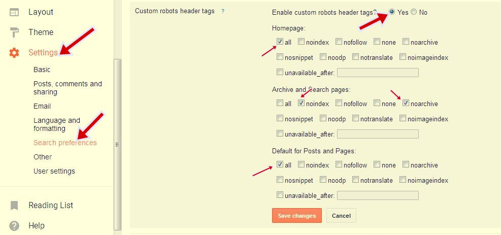 Custom robots header tags  फॉर seo