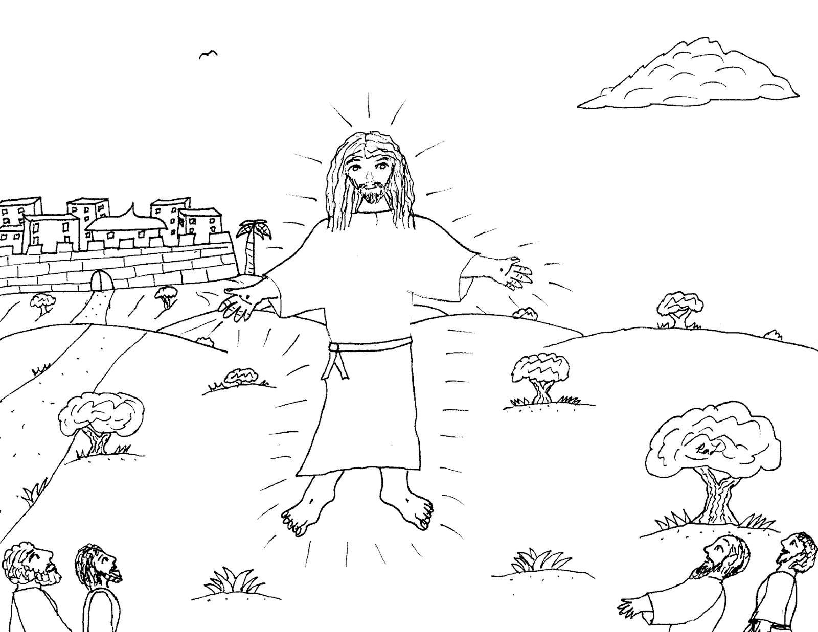 Robins Great Coloring Pages Jesus Ascending Into Heaven