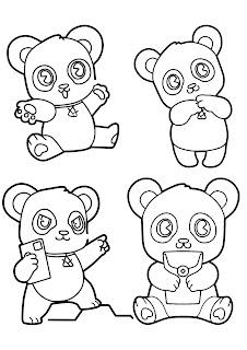 דובי פנדה חמודים לצביעה