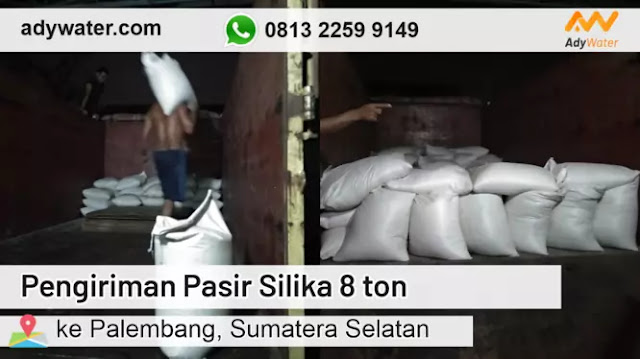 Pengiriman Pasir Silika 8 ton ke Palembang | Jual Pasir Silika Grosir 2020