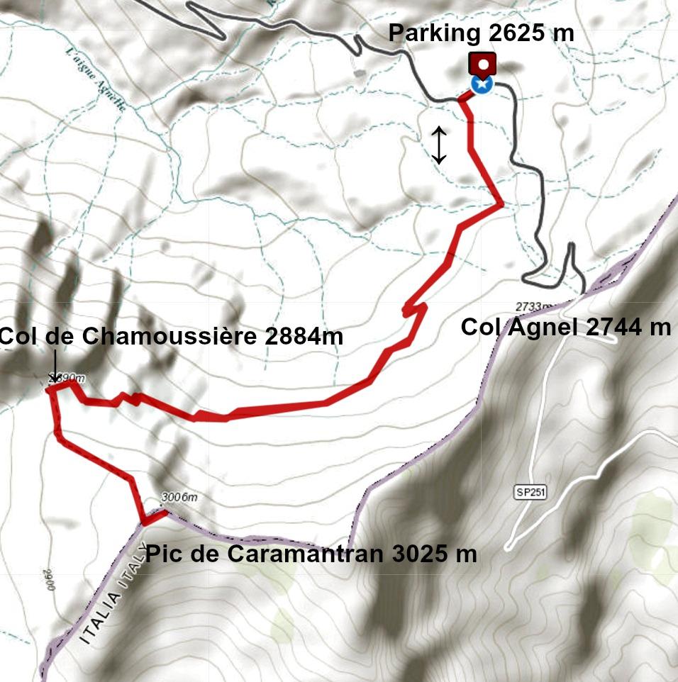 Caramantran hike track