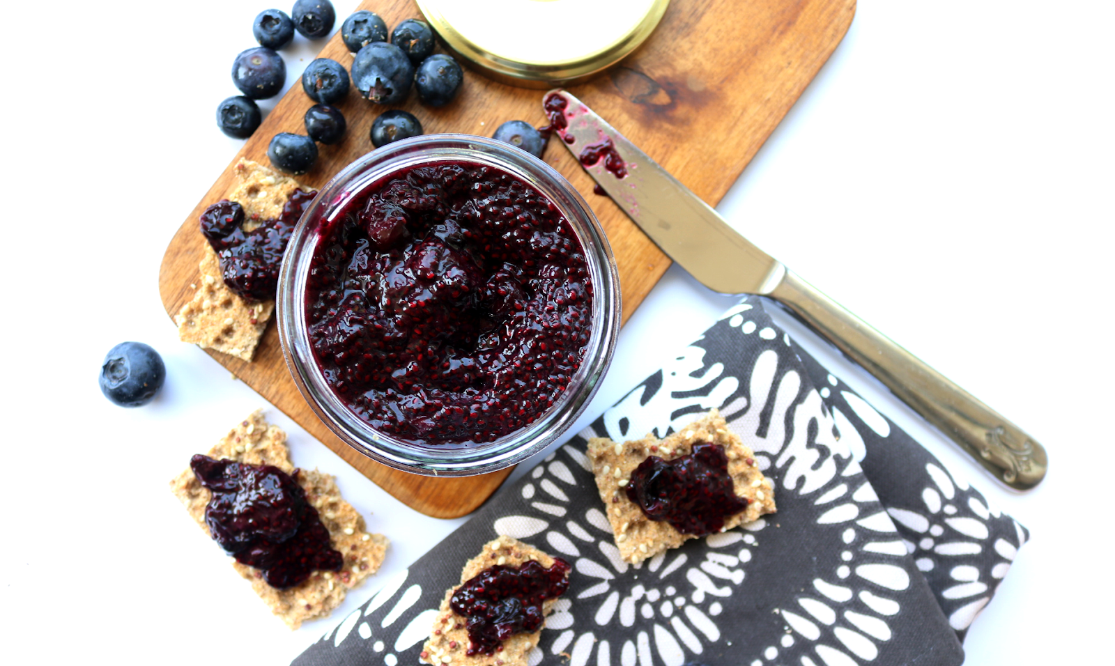 10 Minute Blueberry Chia Jam (Vegan / Refined Sugar Free recipe)