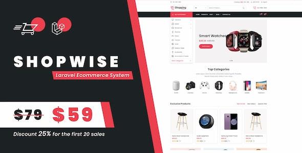 Shopwise php script–Laravel Ecommerce System