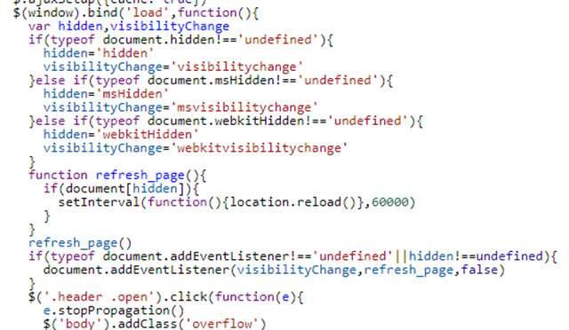 Tự làm mới trang khi tab trình duyệt bị ẩn bằng JavaScript