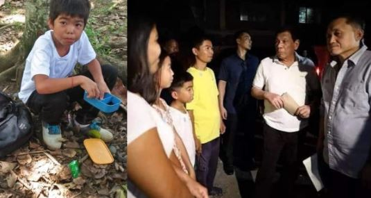 "Student who went viral for his ""toyo-suka baon"" meets Duterte"