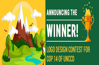 Winner Announcement of Logo Design Contest for COP 14 of UNCCD