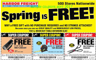 Harbor Freight coupons april 2017