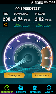 Menguji Kecepatan Koneksi 4G LTE Advaned Smartfren