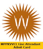 MPPKVVCL Line Attendant Admit Card
