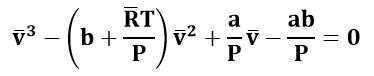 Ecuación cúbica de Van der Waals