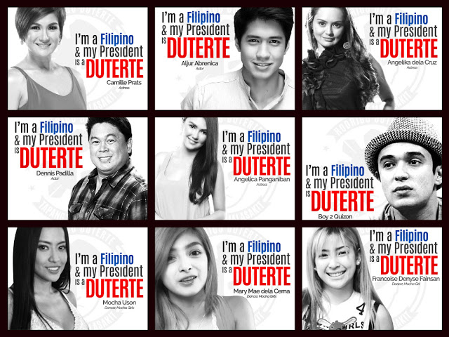 Celebrities who openly supports Duterte's Campaign for ...
