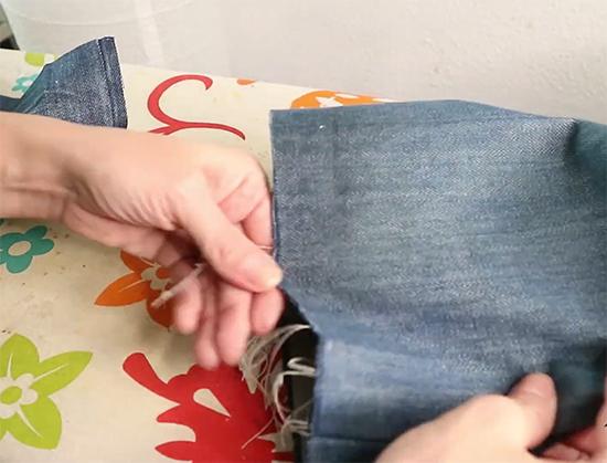 desfiar calça jeans