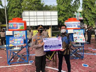 Polres Enrekang Menerima Bantuan 2 Buah Wastafel dari BRI, Kapolres Sampaikan Terima Kasih