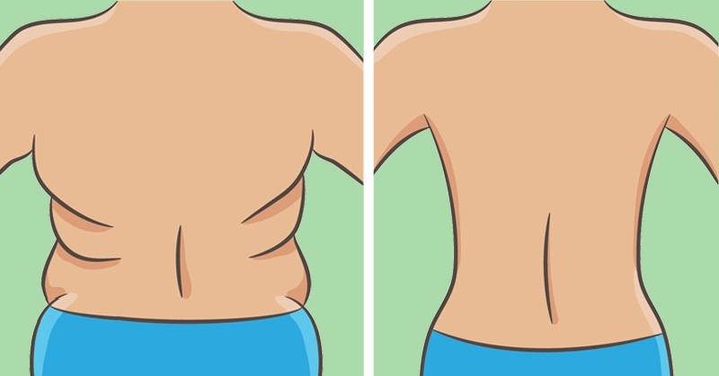 7 تمارين للتخلص من التجاعيد على الظهر والجانبين