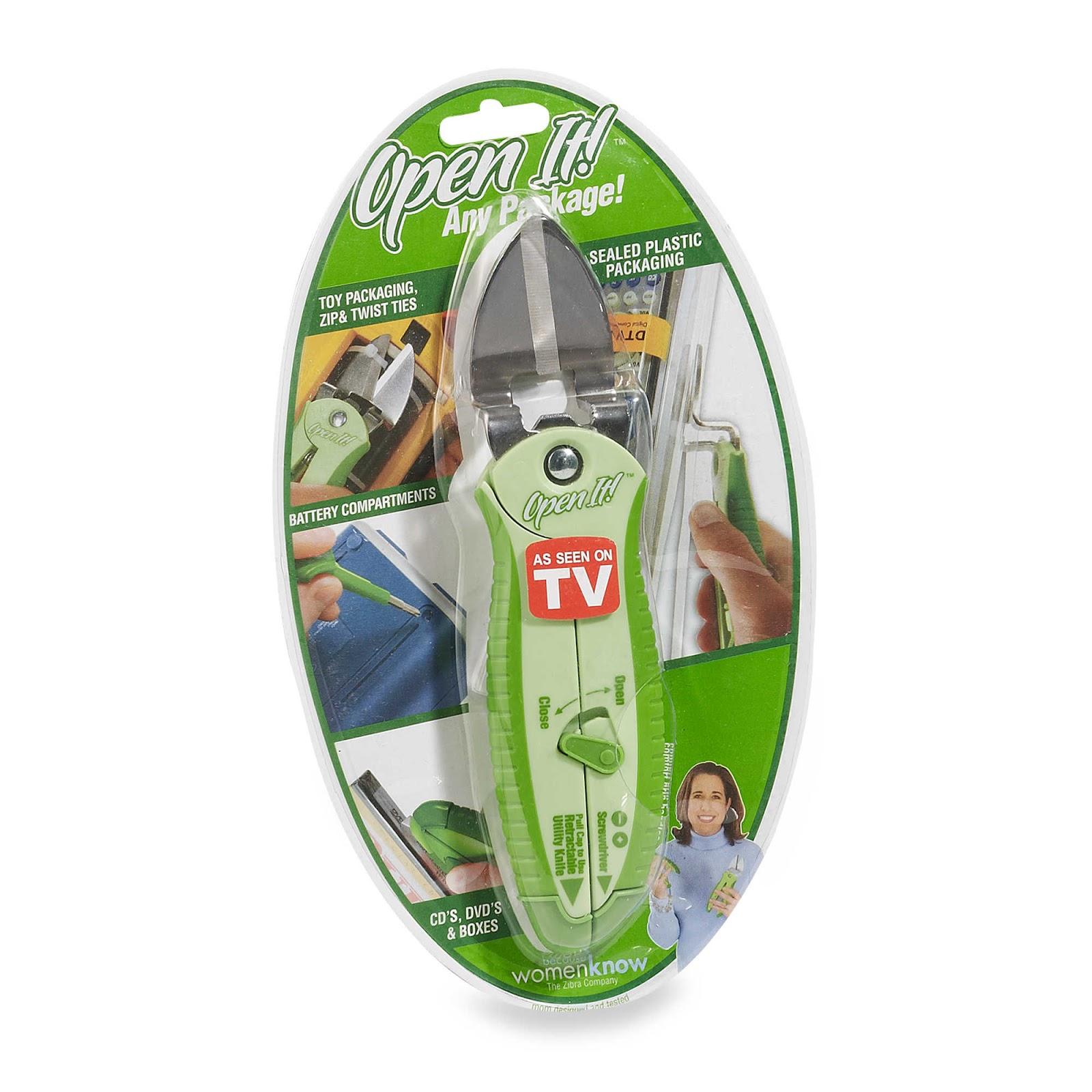 Open It scissors for plastic packaging