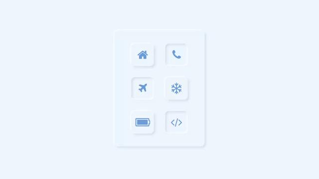 Neuomorphic Effect on Icons