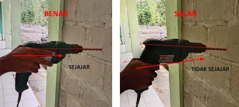 cara menggunakan bor listrik dan bagian nya