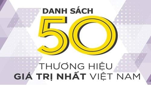 Top 50 thương hiệu giá trị nhất Việt Nam