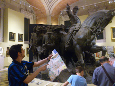 Pedindo informações em Roma - Itália