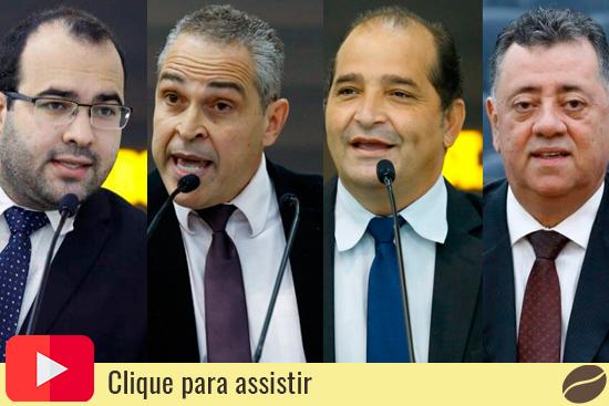 Vereadores da bancada de oposição: Jean Marques, Dr. Jamal, William Gentil e Luiz Pereira. Café com Jornalista