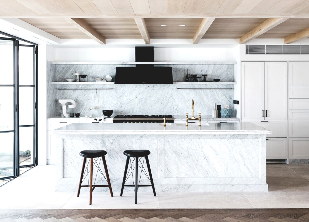 a stunning modern marble kitchen room of the week coco kelley
