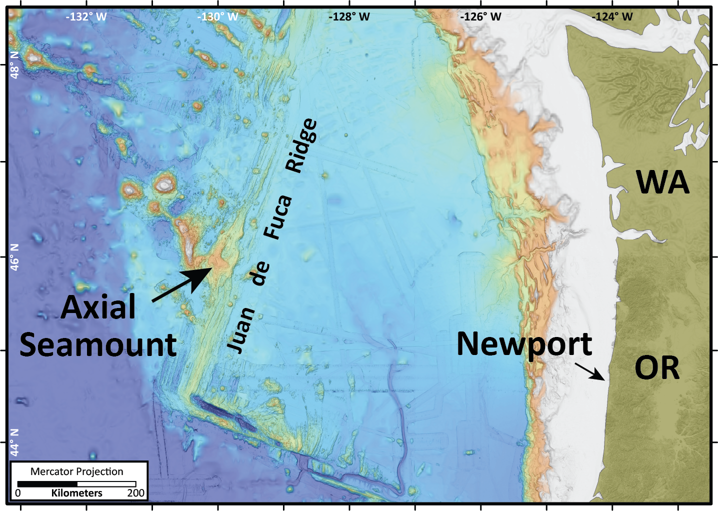Where is Axial Seamount?
