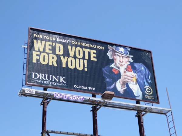 Drunk History Uncle Sam 2017 Emmy FYC billboard