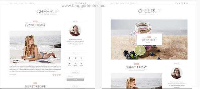 CheerUp Free Blogger Templates