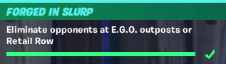 Eliminate opponents at E.G.O. outposts or Retail Row