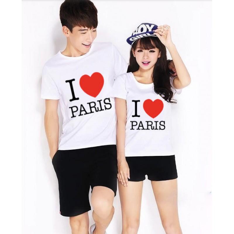 Jual Online I Love Paris Murah Jakarta Bahan Combed Terbaru