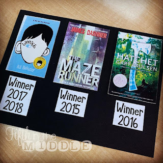 Book Madness: Details for Setup and Implementation - past winners (Wonder, The Maze Runner, and Hatchet)