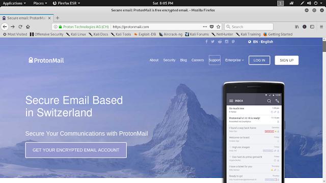 Protonmail kali linux encrypted mails