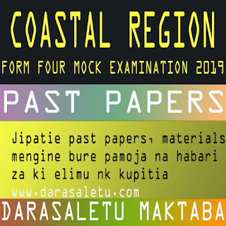 PAST PAPERS FOR MOCK EXAMINATION TANZANIA (TAMONGSCO, TAHOSA ETC