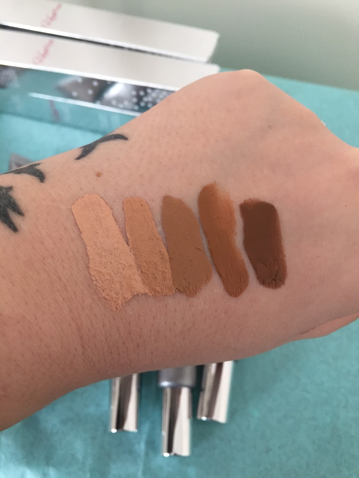 Water Serum Foundation Swatches