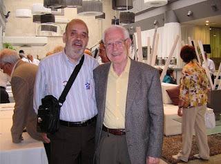 Carreras (con chaqueta) junto al autor del relato, en Lérida, año 2009 (foto del archivo privado de M. Jorques)