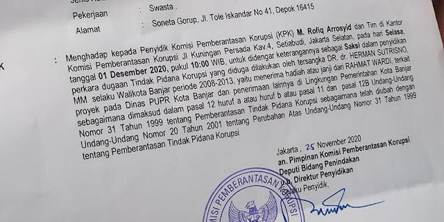 Tersangka Kasus Suap Di Pemkot Banjar Ternyata Mantan Walikota Herman Sutrisno