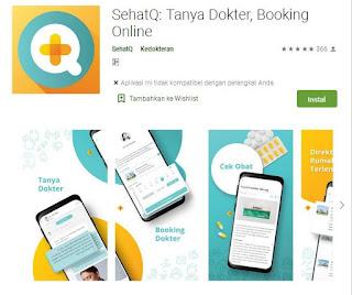 aplikasi booking dokter online sehat Q