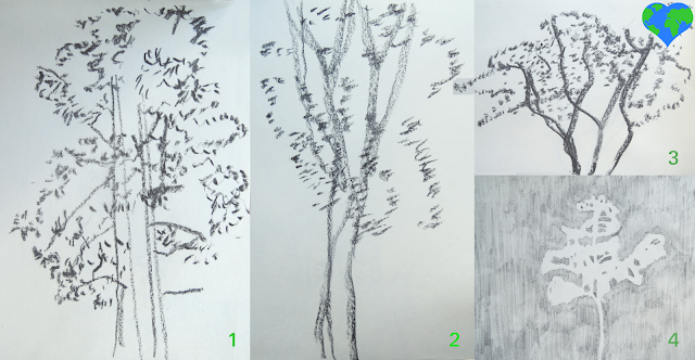 Many ways to draw a tree, sustainability, sustainable living, climate action