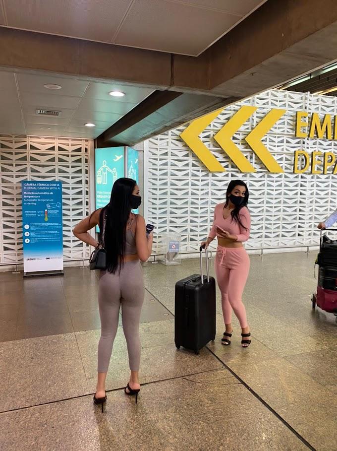 Participantes do Miss Bumbum 2021 perdem voo no aeroporto em São Paulo