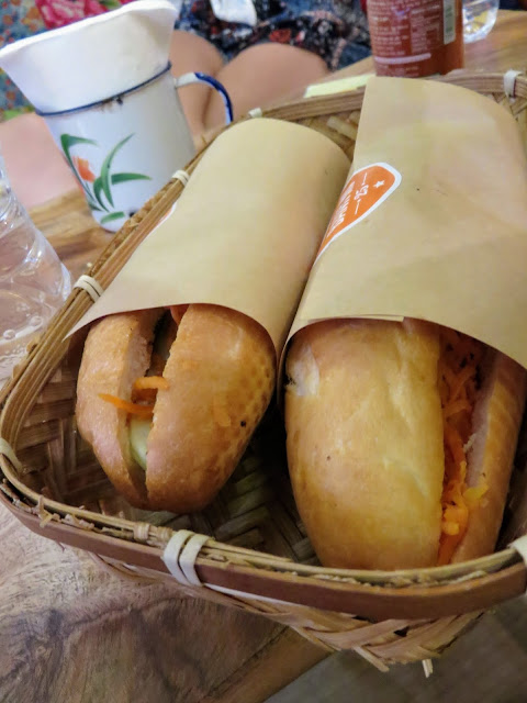 Banh Mi sandwiches at Bahn Mi 25 in Hanoi, Vietnam